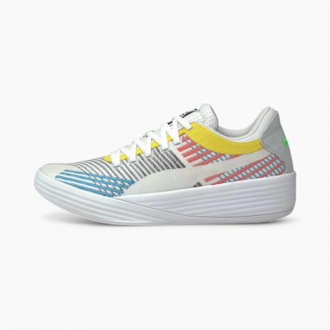 Puma Clyde All-Pro Wit Blauw 194039-01